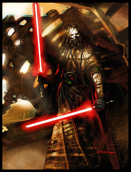 The sith warrior, artwork by daril