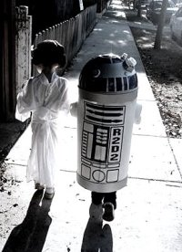 leai and R2D2 halloween